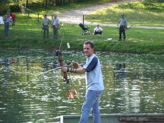 pêche à l'arc